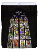 Cologne Cathedral Stained Glass Window Of Pentecost Duvet Cover