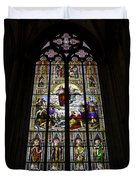 Cologne Cathedral Stained Glass Window Of St Paul Duvet Cover