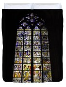 Cologne Cathedral Stained Glass Window Of St Peter And Tree Of Jesse Duvet Cover