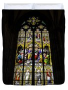 Cologne Cathedral Stained Glass Window Of St Peter Duvet Cover