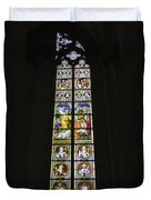 Cologne Cathedral Stained Glass Window Of St. Stephen Duvet Cover
