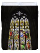 Cologne Cathedral Stained Glass Window Of The Adoration Of The Magi Duvet Cover