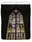 Cologne Cathedral Stained Glass Window Of The Lamentation Duvet Cover