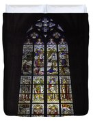 Cologne Cathedral Stained Glass Window Of The Nativity Duvet Cover