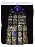 Cologne Cathedral Stained Glass Window Of The Three Holy Kings Duvet Cover