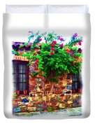 Colonia Del Sacramento Window Duvet Cover