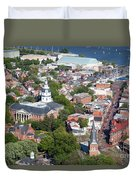 Colonial Annapolis Historic District And Maryland State House Duvet Cover