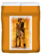 Colonial Soldier Photo Art  Duvet Cover by Thomas Woolworth