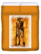 Colonial Soldier Photo Art  Duvet Cover