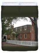 Colonial Williamsburg Scene Duvet Cover