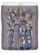 Colonnade And Stained Glass No2 Duvet Cover