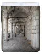 Colonnaden In Hamburg Germany Duvet Cover