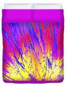 Color Burst Agave Duvet Cover