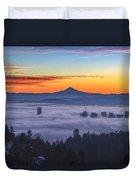 Color Fog Mountain Duvet Cover