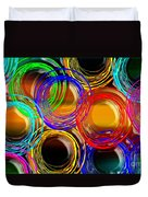 Color Frenzy 1 Duvet Cover by Andee Design