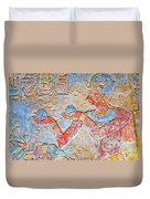 Color Hieroglyph Duvet Cover
