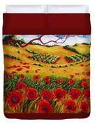 Color In The Vineyards Duvet Cover