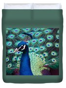 Color Me Peacock Duvet Cover