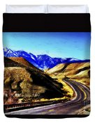 Color My Road Duvet Cover