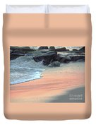 Color Of Sand Cape May Nj Duvet Cover