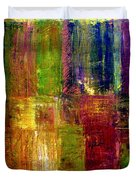 Color Panel Abstract Duvet Cover by Michelle Calkins