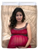 Color Portrait Young Pregnant Spanish Woman I Duvet Cover