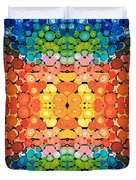 Color Revival - Abstract Art By Sharon Cummings Duvet Cover