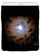 Color Ring Around The Moon Duvet Cover