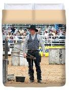 Color Rodeo Shootout Gunslinger Duvet Cover