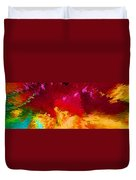 Color Shock 4 - Vibrant Digital Painting Duvet Cover by Sharon Cummings