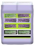 Color Stix Duvet Cover
