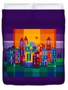Color Town Duvet Cover