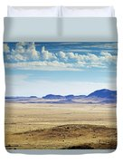 Color View Of West Texas Duvet Cover