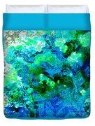 Color Wash Abstract In Blue Duvet Cover