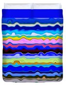 Color Waves No. 4 Duvet Cover