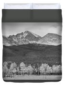 Colorado America's Playground In Black And White Duvet Cover