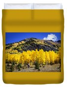 Colorado Autumn Hike Duvet Cover