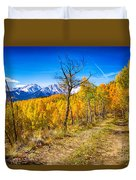 Colorado Backcountry Autumn View Duvet Cover