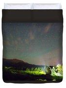 Colorado Chapel On The Rock Dreamy Night Sky Duvet Cover