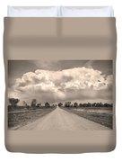 Colorado Country Road Stormin Sepia  Skies Duvet Cover