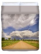 Colorado Country Road Stormin Skies Duvet Cover