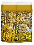 Colorado Fall Aspens 2 Duvet Cover
