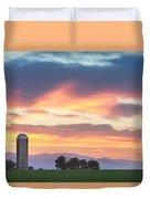 Colorado Farmers Sunset Duvet Cover