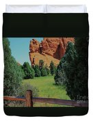 Colorado Garden Of The Gods From The Trail Duvet Cover
