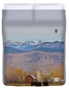 Colorado Hot Air Ballooning Duvet Cover