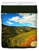 Colorado In Autumn Duvet Cover