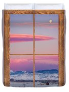 Colorado Moon Sunrise Barn Wood Picture Window View Duvet Cover