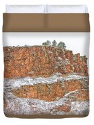 Colorado Red Sandstone Country Dusted With Snow Duvet Cover