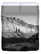 Colorado River Cliff Bw Duvet Cover