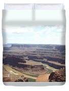 Colorado River From Dead Horse Point  Duvet Cover